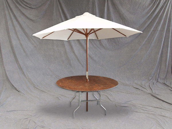 Where to find UMBRELLA KIT w  60  RD TABLE in Chicago