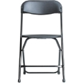 Where to rent CHAIR, FOLDING BLACK w  Black Legs in Chicago IL