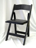 Where to rent CHAIR, RESIN BLACK folding in Chicago IL