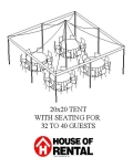 Where to rent TENT PARTY LAYOUT. 32 GUESTS FOR DINNER in Chicago IL