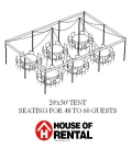 Where to rent TENT PARTY LAYOUT. 48 GUESTS FOR DINNER in Chicago IL