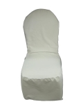 Where to rent CHAIR COVER, WHITE ROUND TOP poly in Chicago IL