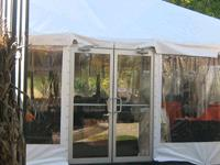 Rent your tent sidewall rental, clear tent sidewall, white tent sidewall, window tent sidewall, mesh tent sidewall, misting tent rental, tent door, tent weight rental, tent water barrel, wedding tent sidewall rental, enclosed tent rental,  tent accessory rental,